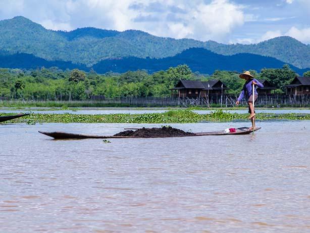 Myanmar - Inle-See - Einbeinruderer