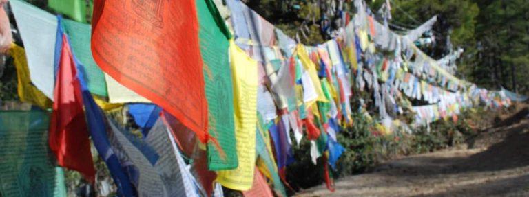Bhutan - Gebetsflaggen