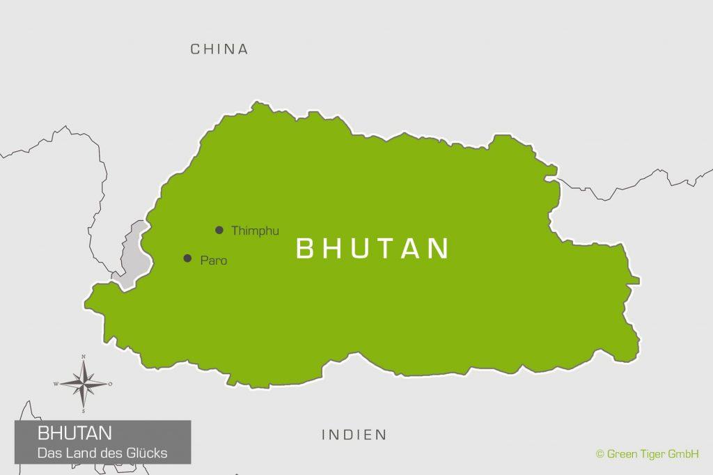 Bhutan Karte