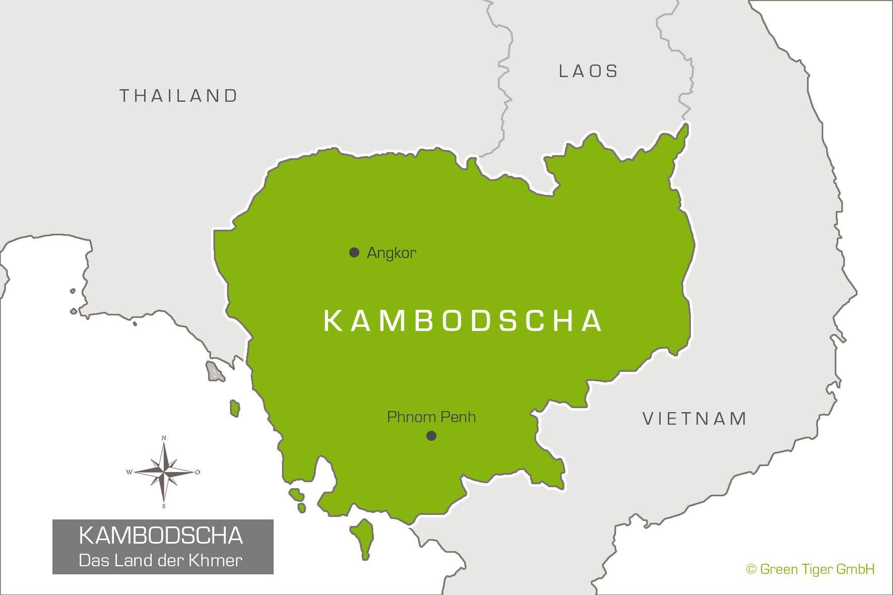 Kambodscha Karte